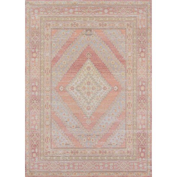 Sofian Pink Geometric Area Rug by Ophelia & Co.