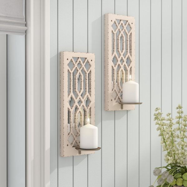 Deco Mirror Wall Sconce (Set of 2) by Lark Manor