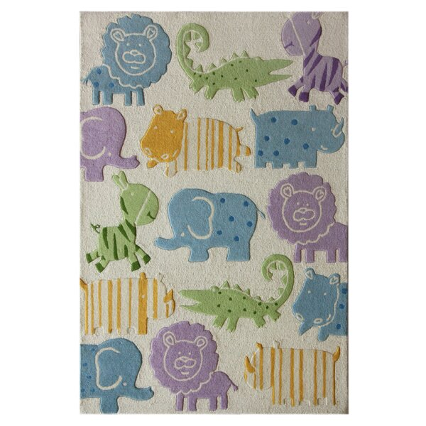 Kinder Ivory Animal Kingdom Area Rug by nuLOOM