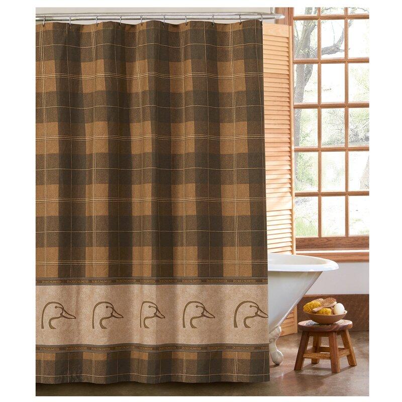 Ducks Unlimited Plaid Shower Curtain & Reviews | Wayfair