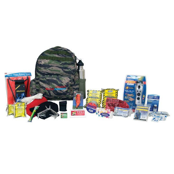 Emergency Deluxe 2 Person Outdoor Survival Kit by