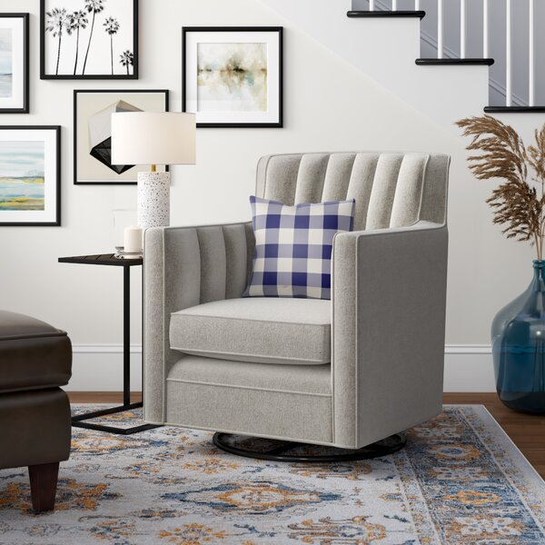 Kirtin Swivel Armchair by Three Posts