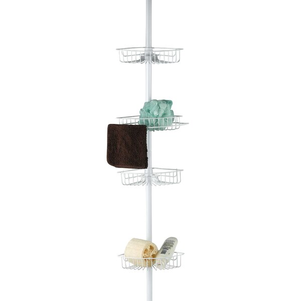 Boaz Tension Pole 4 Tier Corner Bath Tub Adjustable Shower Caddy by Rebrilliant