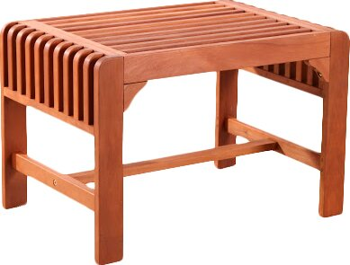 Darrick Backless Wood Picnic Bench by Red Barrel Studio
