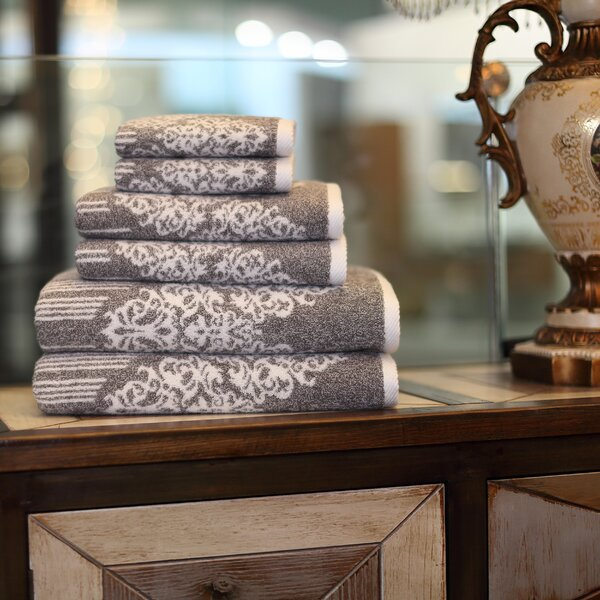 Gioia 6 Piece Turkish Cotton Towel Set by Linum Home Textiles