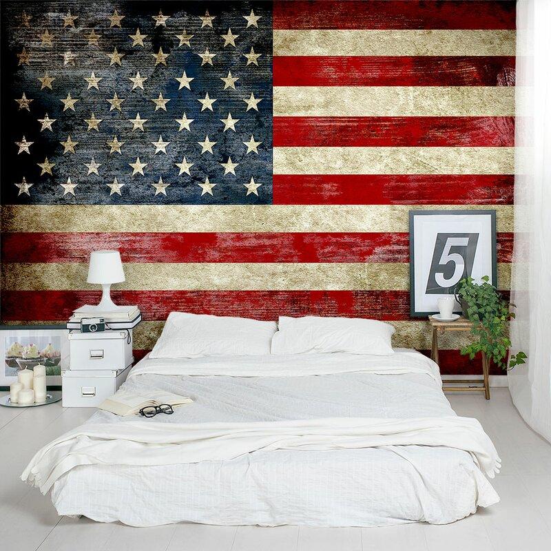 Wallums Wall Decor American Flag 8 X