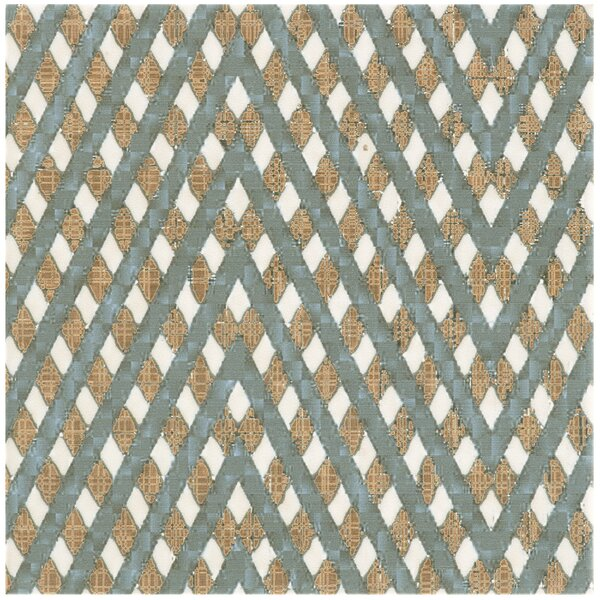 Illica 7.75 x 7.75 Ceramic Field Tile in Blue/Yellow by EliteTile