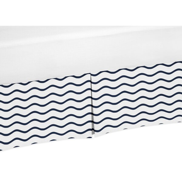 Whale Chevron Wave Print Crib Skirt by Sweet Jojo Designs