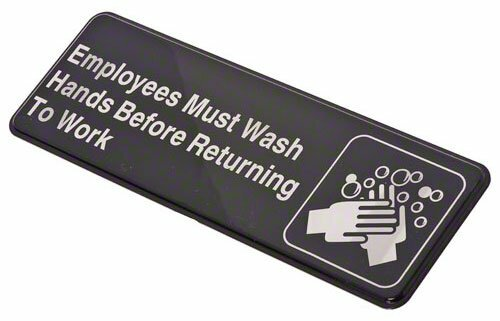 Employees Must Wash Hands Sign by CROWN BRANDS