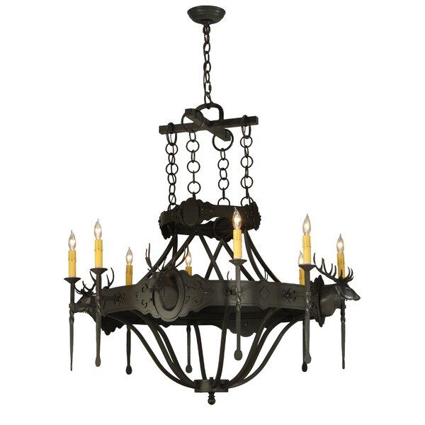 Widner 8 - Light Candle Style Empire Chandelier by Fleur De Lis Living Fleur De Lis Living
