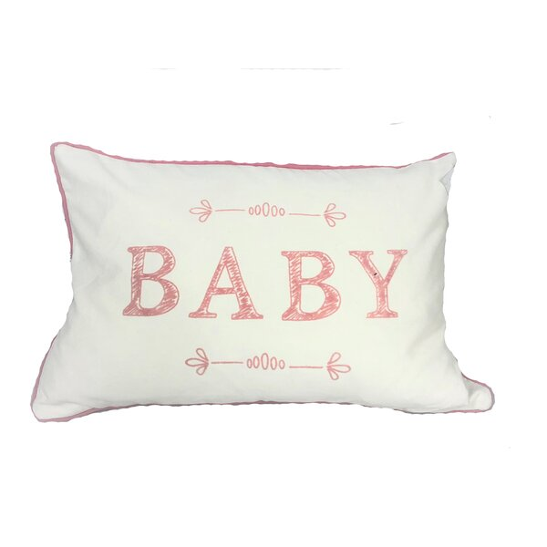 Hover Typo Baby Throw Pillow by Harriet Bee
