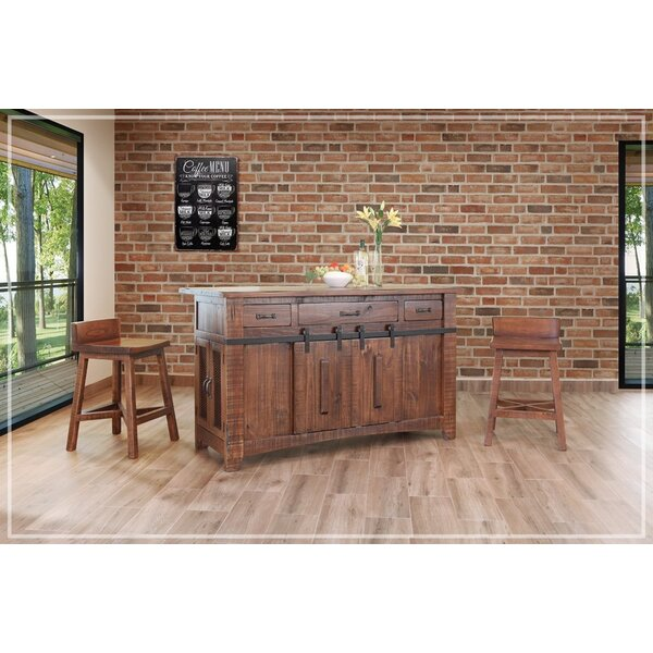 Fresh Coralie Kitchen Island By Gracie Oaks Comparison
