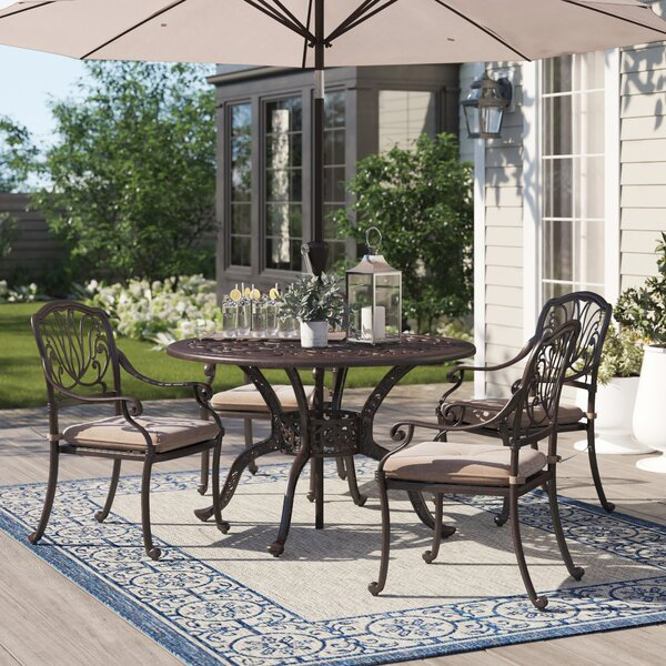 Lebanon 5 Piece Dining Set with Cushions