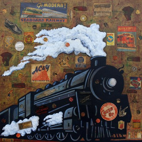 Night Train Canvas Art by Oopsy Daisy