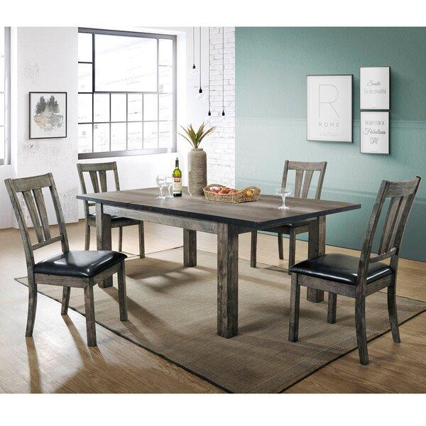 Sanda 5 Piece Wood Dining Set by Union Rustic