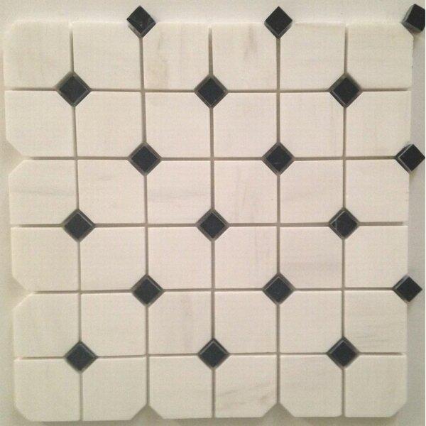Hex Polished 2 x 2 Mosaic Tile in Bianco Dolomite by Ephesus Stones