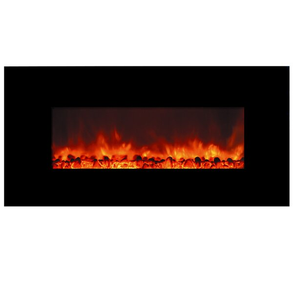 Deeter Wall Mounted Electric Fireplace by Orren Ellis