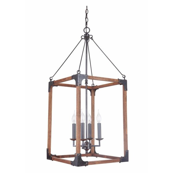 DiPaolo 4 - Light Lantern Square / Rectangle Pendant by Union Rustic Union Rustic