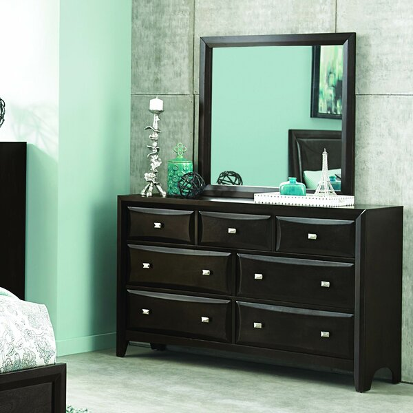 Ryerson 7 Drawer Dresser With Mirror By Brayden Studio by Brayden Studio 2020 Sale
