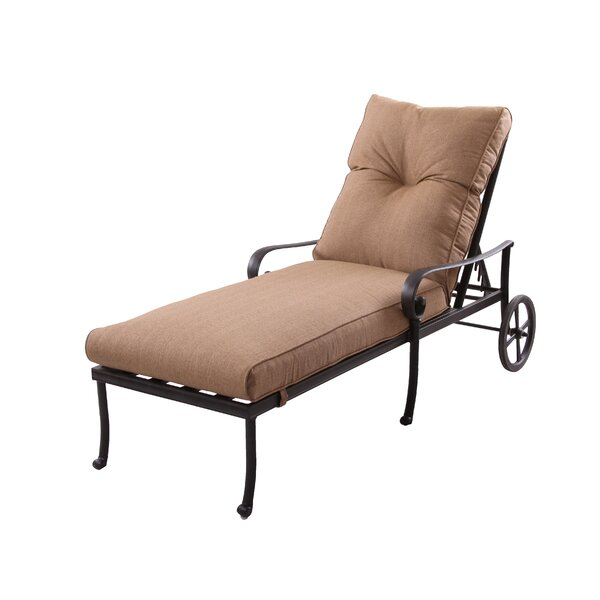 Carlitos Reclining Chaise Lounge with Cushion by Darby Home Co