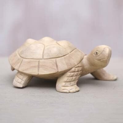 Cece Papa Terrapin Wood Indonesia Statue by Highland Dunes