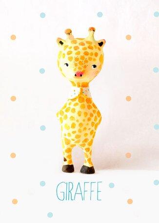 Paper Mache Giraffe by Paola Zakimi Canvas Art by Oopsy Daisy
