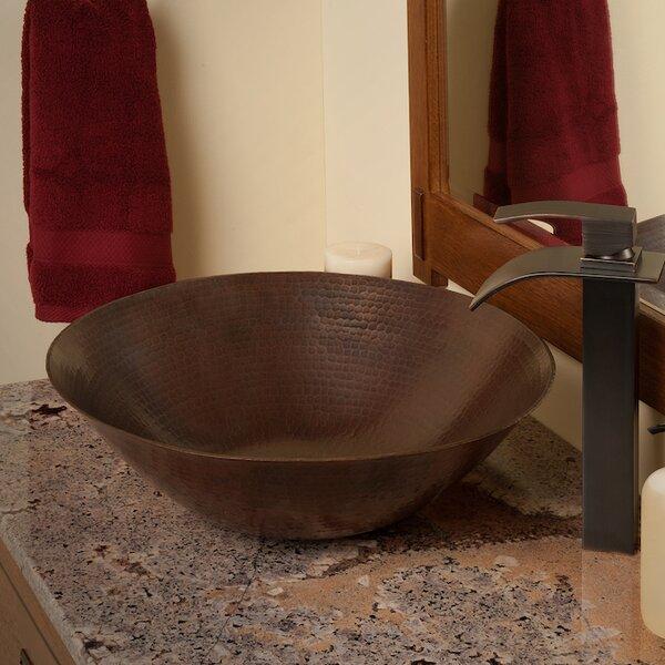 Catalonia Metal Circular Vessel Bathroom Sink by Novatto