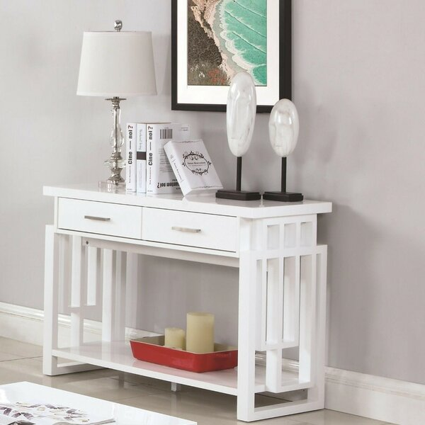 Probolinggo Contemporary Wooden Console Table By Ivy Bronx
