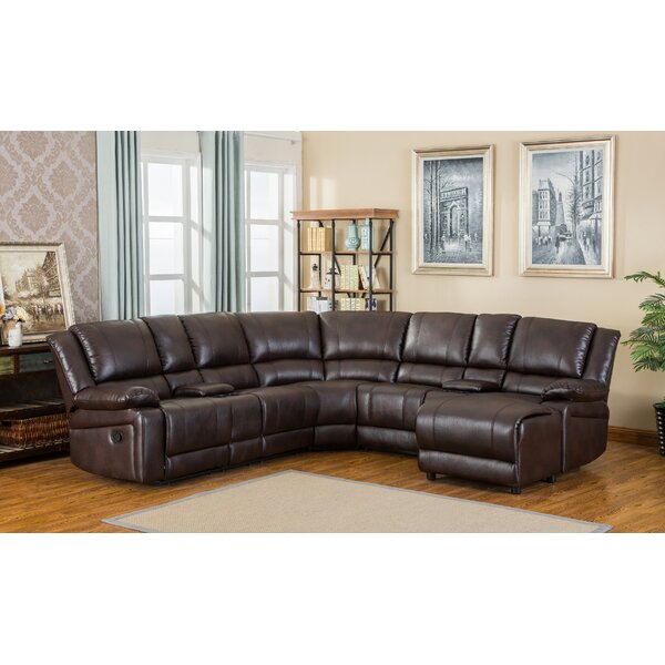 Juno  Left Hand Facing Reclining Sectional by Roundhill Furniture