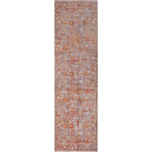 Elvis Distressed Pale Pink/Silver Gray Area Rug By Charlton Home