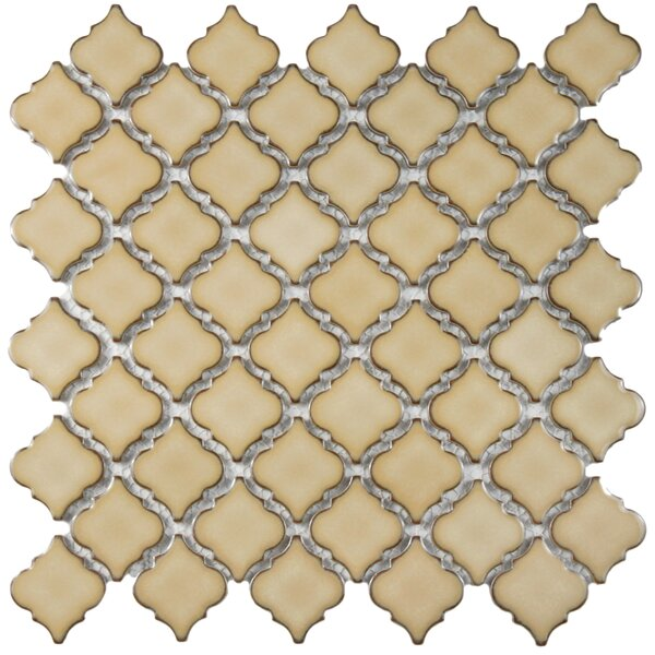 Pharsalia 2 x 2.25 Porcelain Mosaic Tile in Café by EliteTile
