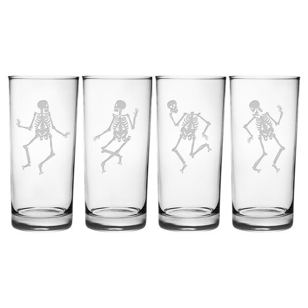 Dance of the Dead Highball Glass (Set of 4) by Susquehanna Glass
