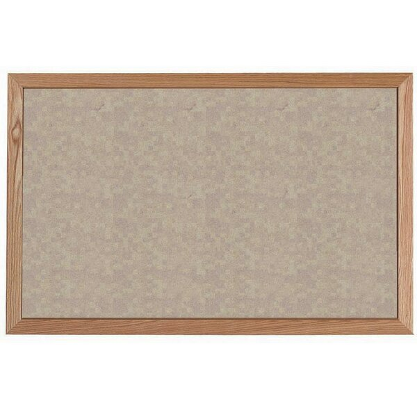 Vinyl Impregnated Cork Wall Mounted Bulletin Board by AARCO