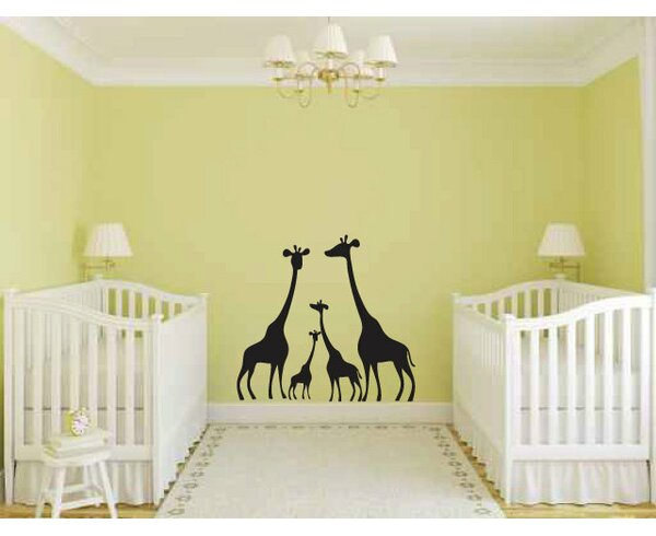 Indian River Giraffe Family Wall Decal by Zoomie Kids