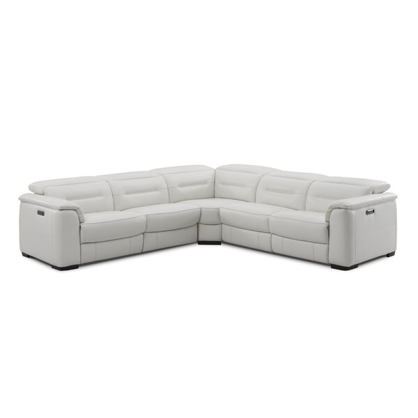 Isham Leather Reclining Sectional by Red Barrel Studio