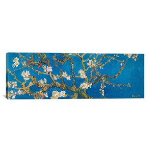 Almond Blossom by Vincent Van Gogh Painting Print on Canvas in Blue by iCanvas
