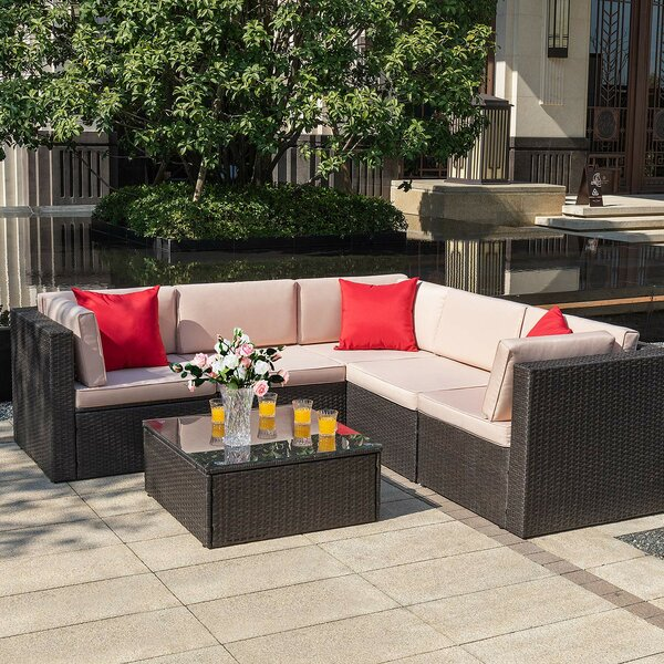 Chesterle 6 Piece Sectional Seating Group With Cushions By Brayden Studio