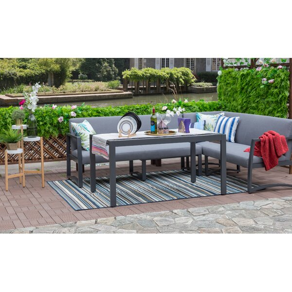 Blum Outdoor 3 Piece Sectional Seating Group with Cushions by Brayden Studio