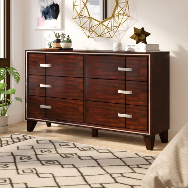 Lumley Contemporary 6 Drawer Double Dresser by Brayden Studio