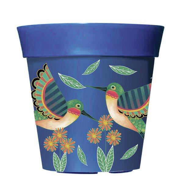 Hummingbirds in Flight Plastic Pot Planter by New Creative