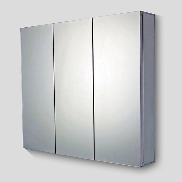 Urban Edge Mirror Door 28 x 26 Surface Mount Frameless Medicine Cabinet by Symple Stuff