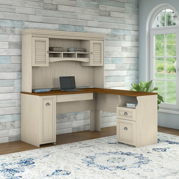 Niles L-Shape Executive Desk with Hutch