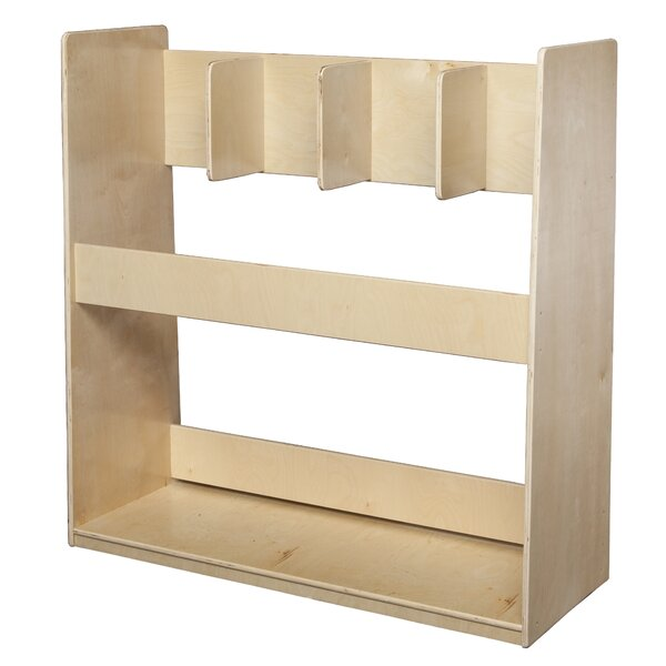 Natural Environment Double Sided 3 Compartment Shelving Unit by Wood Designs