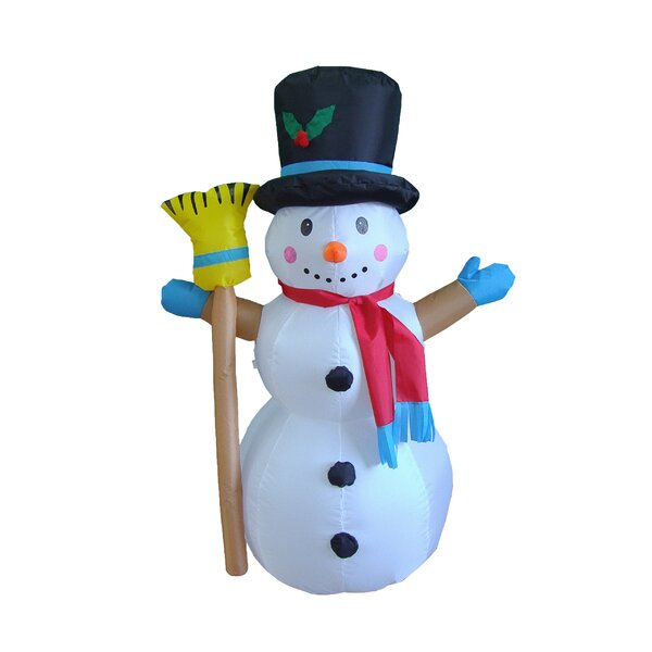 Christmas Inflatable Snowman Decoration By Three Posts.