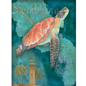Turtle Crop by Bradley Clark Graphic Art on Wrapped Canvas by Portfolio Canvas Decor