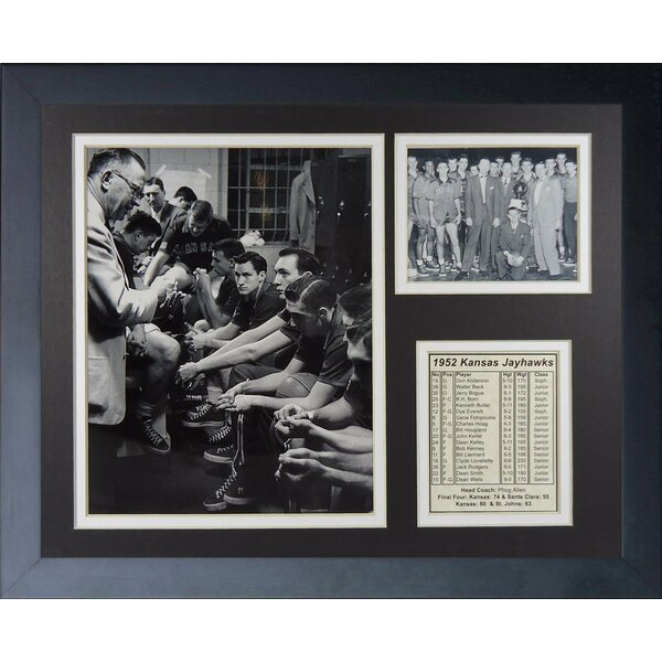 1952 Kansas Jayhawks Framed Memorabilia by Legends Never Die