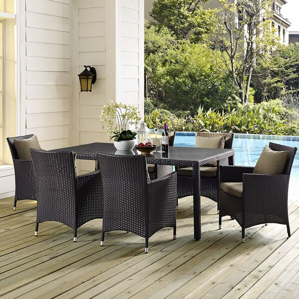 Brentwood 7 Piece Dining Set with Cushions by Sol 72 Outdoor