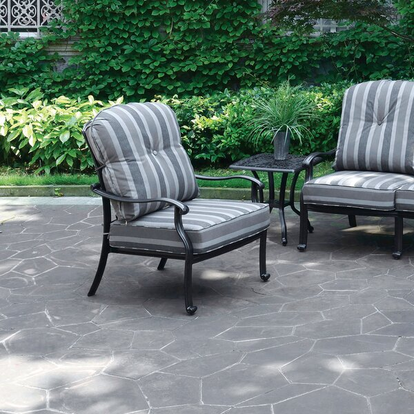 Montpelier Fabric Patio Chair with Cushions by Bay Isle Home