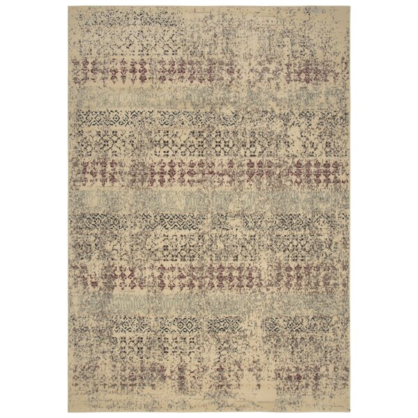 Arrighetto Beige/Red Area Rug by Bloomsbury Market