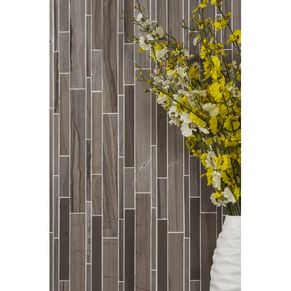 Athens Random Strip 12 x 12 Natural Stone and Marble Mosaic Tile
